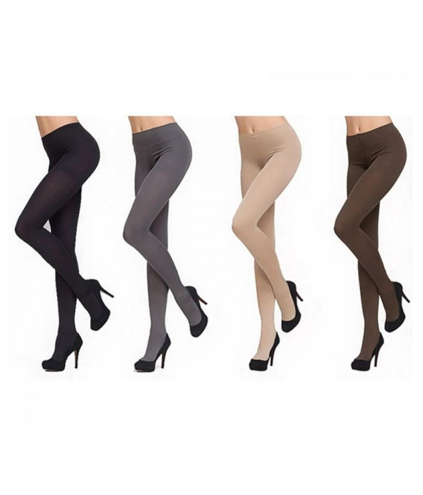 Fashion Women Thick 120D Stockings Pantyhose Tights Opaque Long Footed Socks