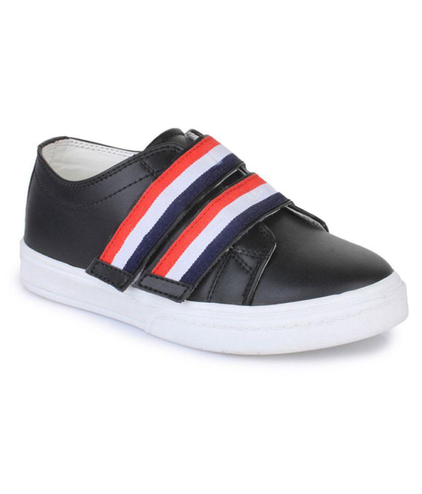 Bruno Manetti Black Kids Unisex Faux Leather Sneakers