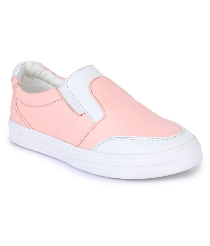 Bruno Manetti Pink Kids Unisex Faux Leather Sneakers