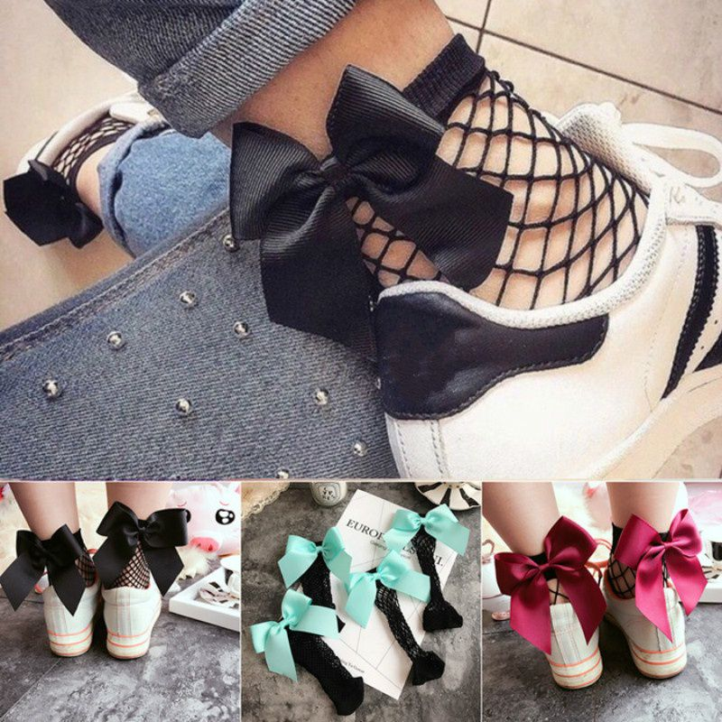 2017 New Arrival Fashion Summer Woman Women Lady Hollow Out Fishnet Solid Ankle Length Fishnet Stockings Short Socks