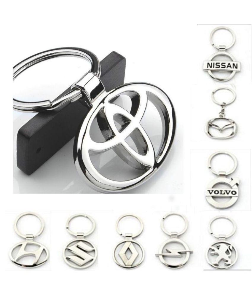 23 Kinds of Car Logo Zinc Alloy Hollow Key chain Key Ring