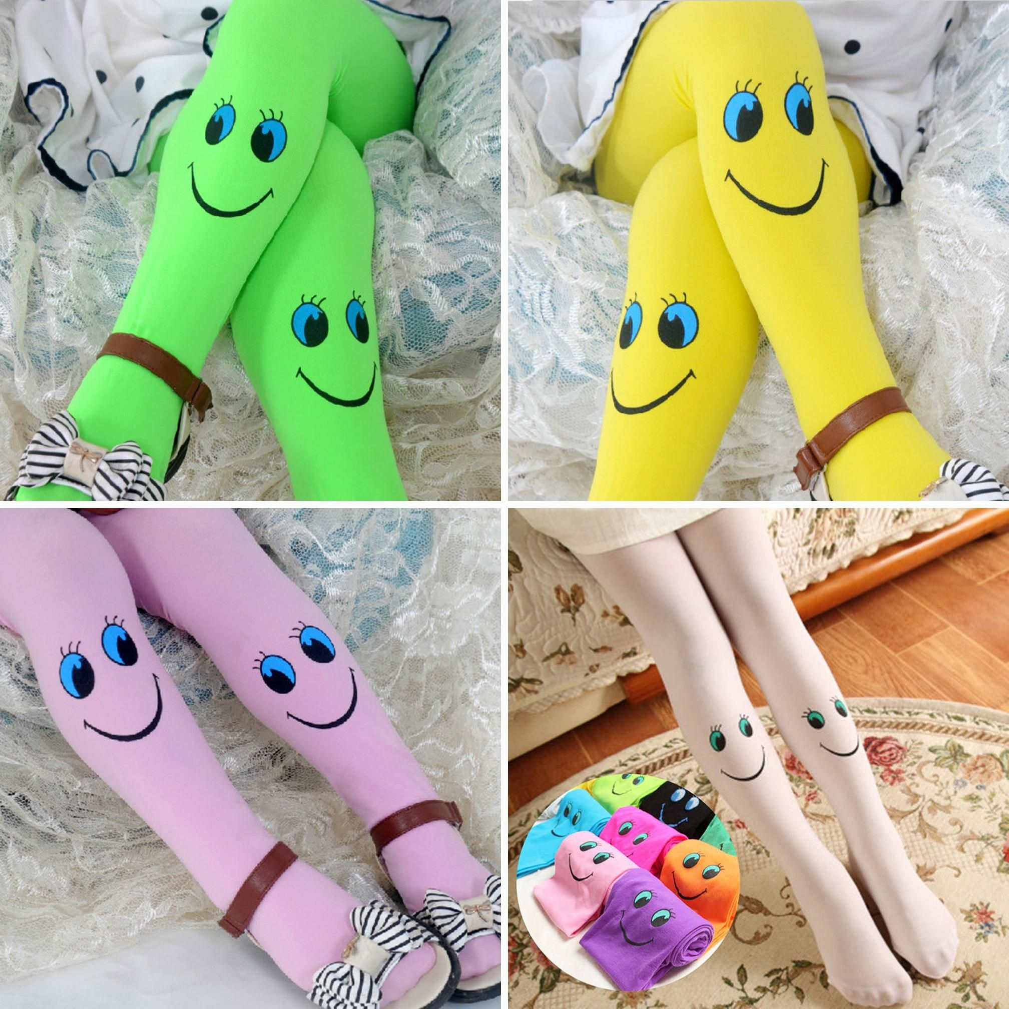 Lovely Fashion Winter Baby Girls Cute Smile Tights Dancing Pantyhose Child Christmas Stockings
