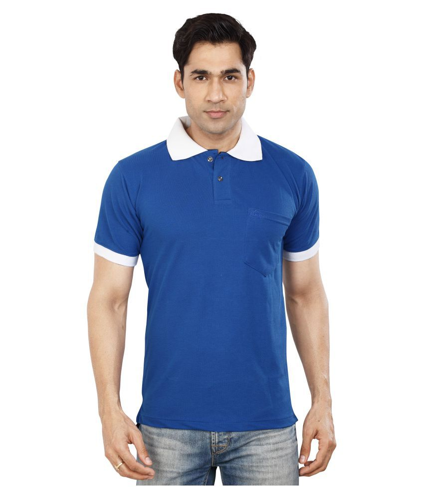 Dudlind Blue Round T-Shirt Pack of 1