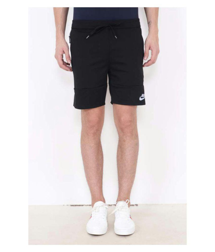Nike Men Black Solid Regular Fit Shorts