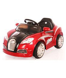 Toyhouse Veyron Sports Rechargeable Battery Painted Ride-on car, Red