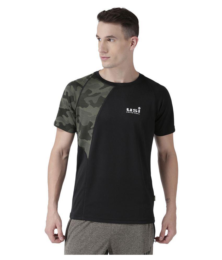 USI UNIVERSAL Green Coloured Mens T-Shirt