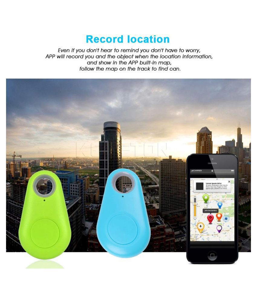 flip finz Combo of Wireless Bluetooth 4 0 Anti-lost Anti-Theft Alarm Device  Tracker With GPS Locator compatible with Android & iOS Smartphones-skyblue