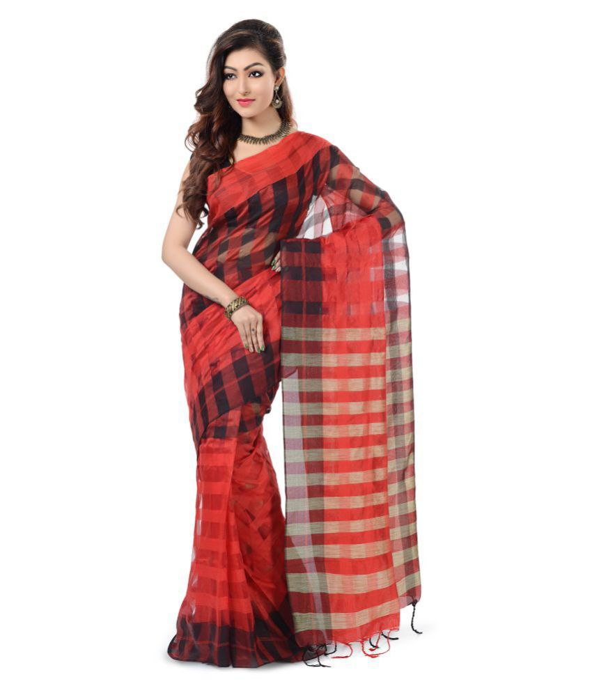 Wooden Tant Multicoloured Art Silk Saree