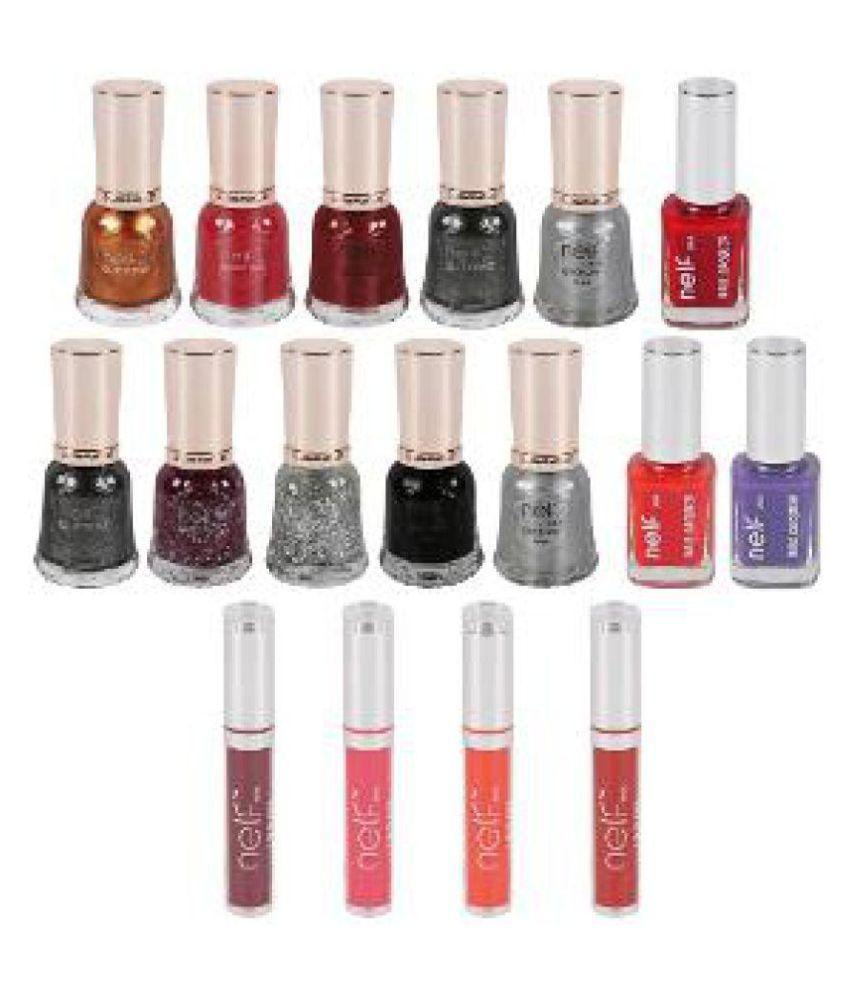 Nelf USA Nail Polish Kit Nelfusa Glitter 11 gm Pack of 4