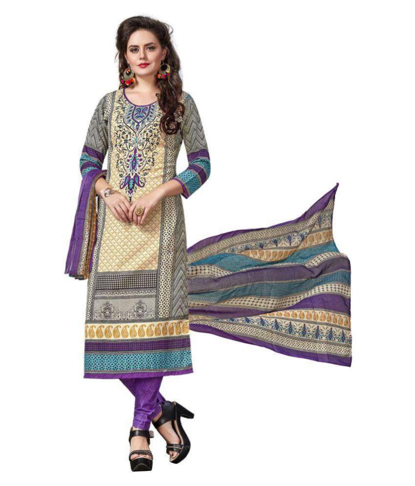 Taboody Empire Multicoloured Cotton Dress Material