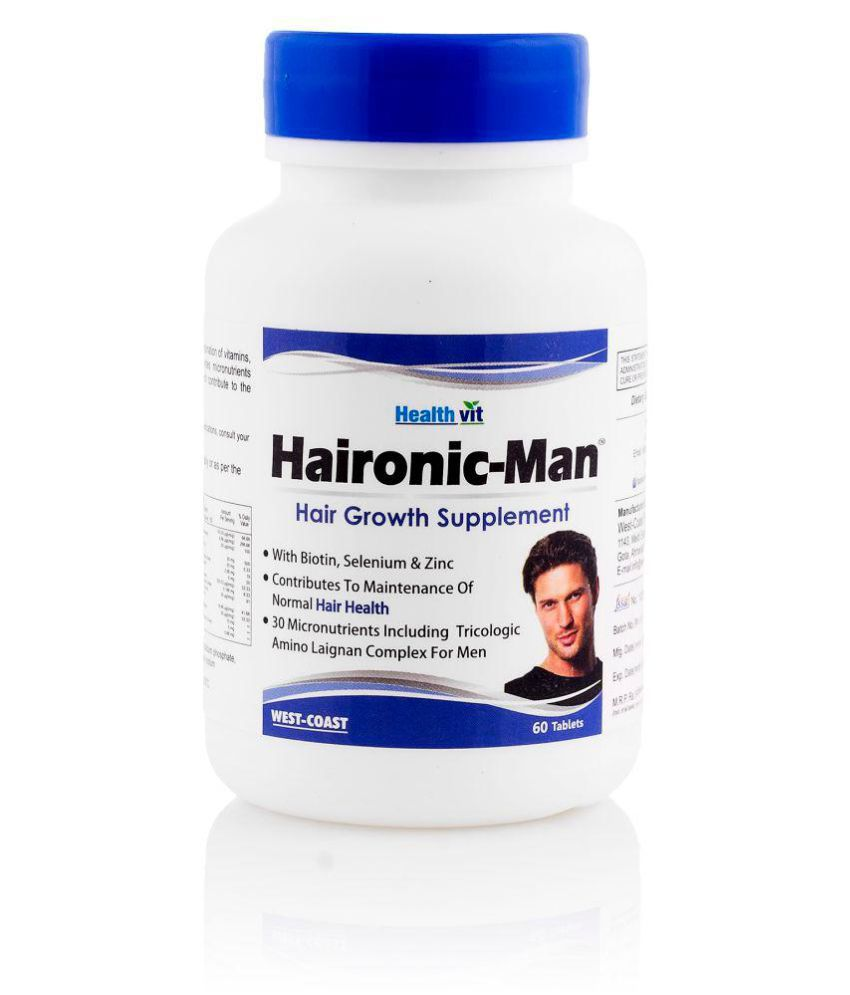 HealthVit Haironic-Man Hair Growth Supplement Tablets 60 no.s