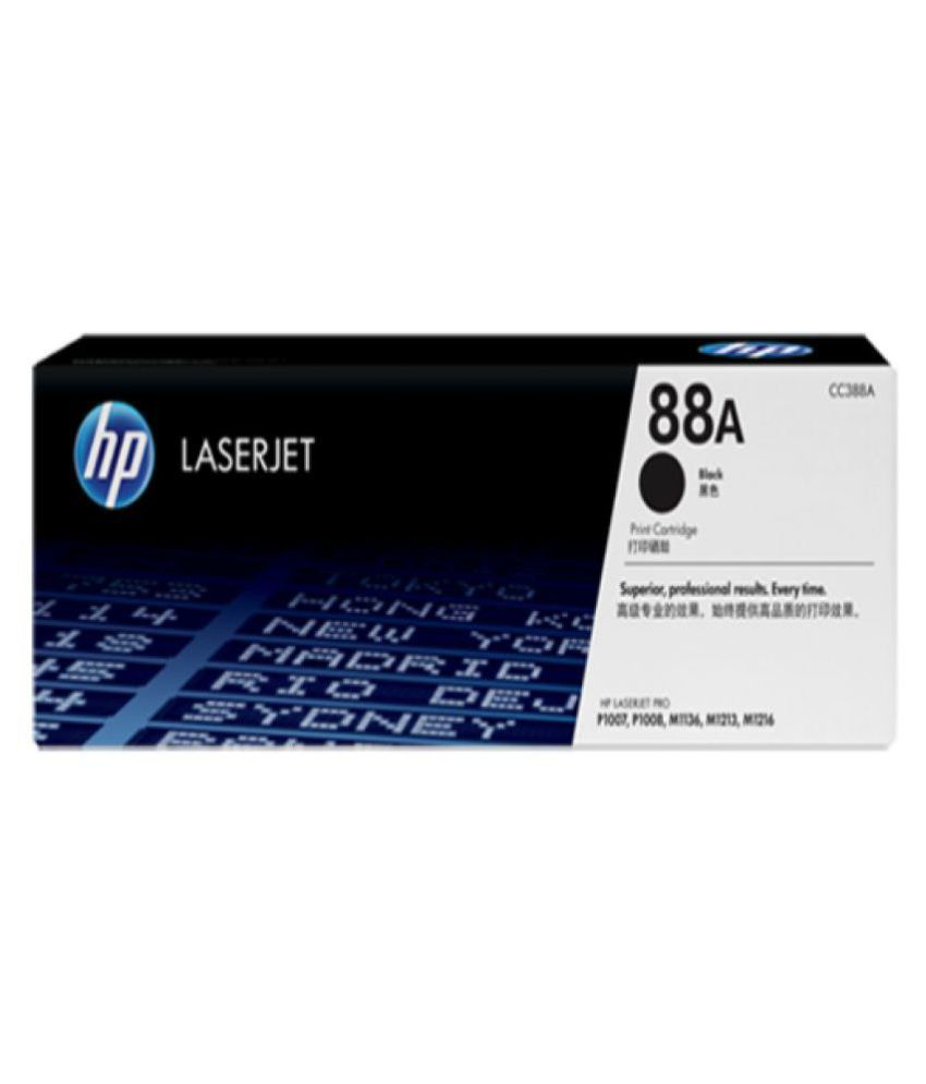 laserjet hp 88A Black Toner Cartridge Single