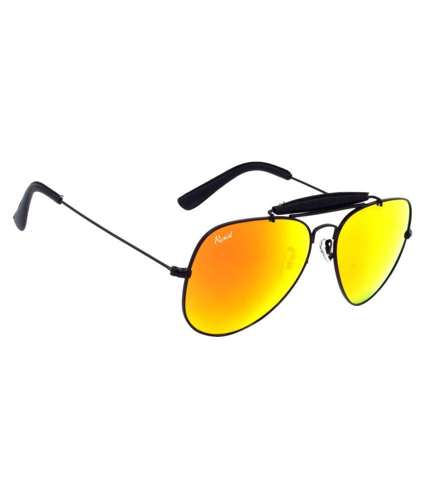 RESIST Orange Aviator Sunglasses ( RE-HR-BF-R03 )