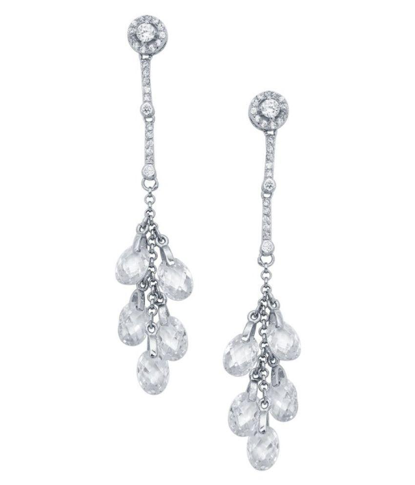 CS Jewellers 92.5 Silver None Drop Earrings