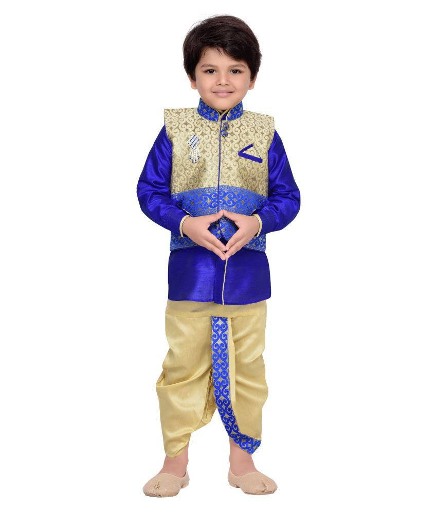 ce2088a2534 AJ Dezines Kids Kurta Waistcoat and Dhoti Pant for Boys available at  SnapDeal for Rs.