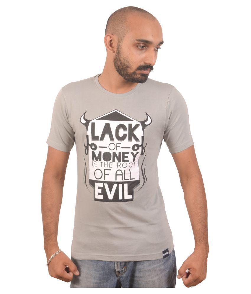 Macbel Grey Round T-Shirt