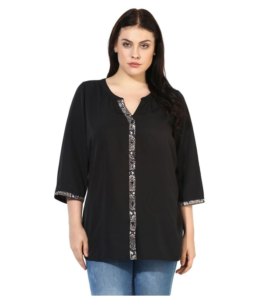 Qurvii Poly Crepe Shirt