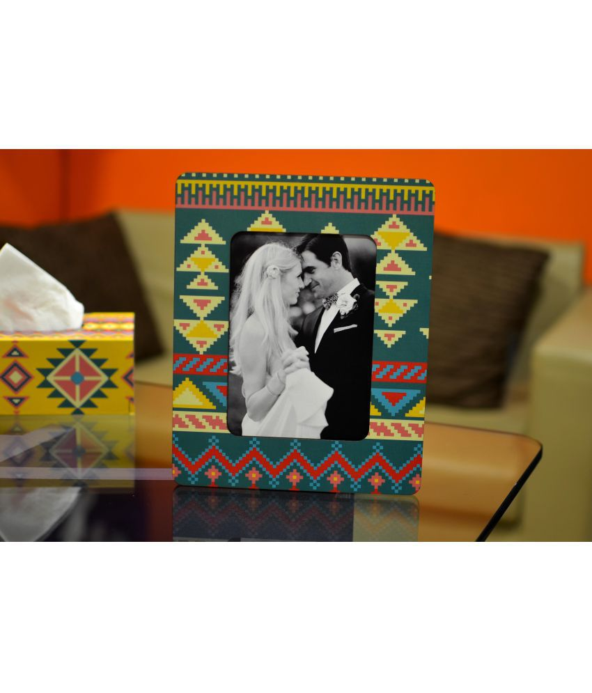 My Own MDF Table Top & Wall hanging Multicolour Single Photo Frame - Pack of 1