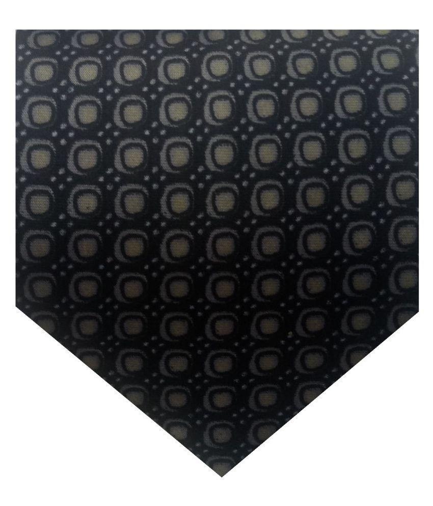 GEET KREATIONS Black Checks Satin Necktie