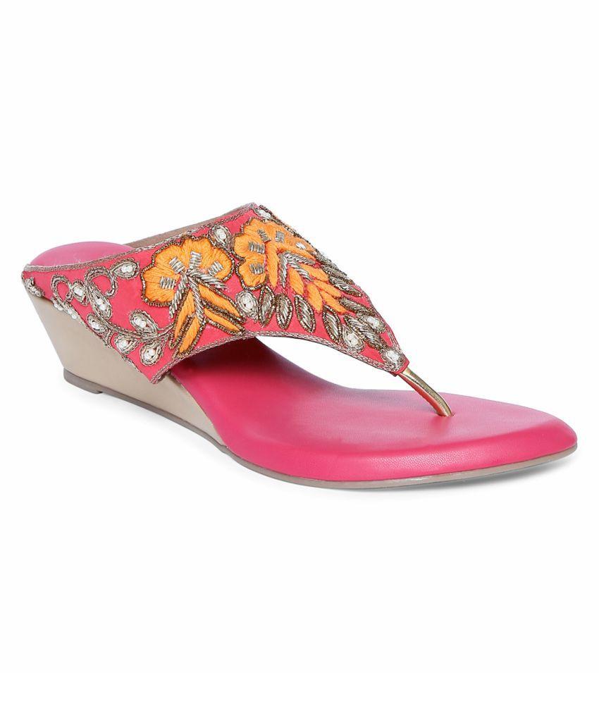 Siendo Desi Pink Platforms Heels