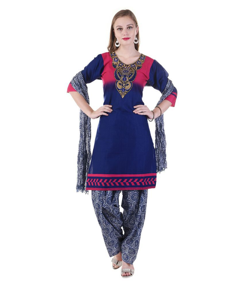SSK FASHION Multicoloured Rayon A-line Stitched Suit