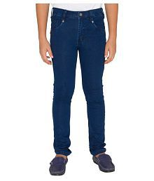 OVO Boys Solid Blue Jeans