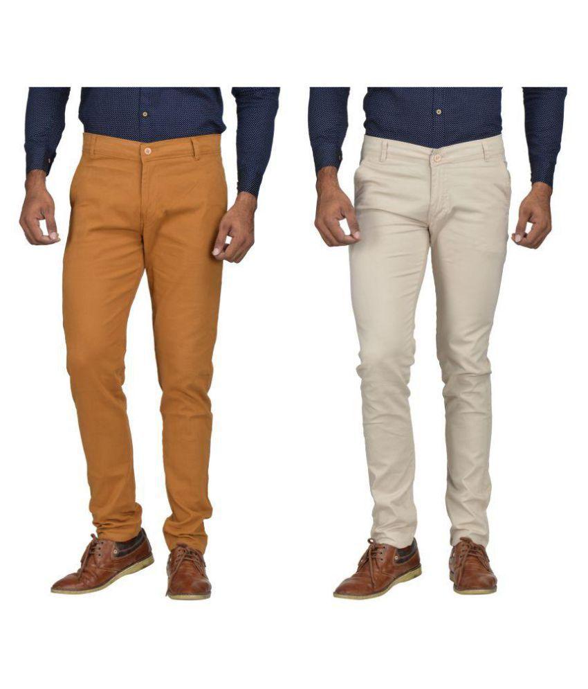 Kushsection Brown Regular -Fit Flat Chinos