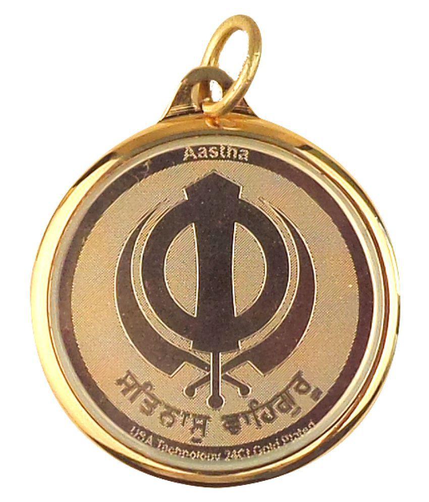 Ek Onkar Gold Charm Pendant