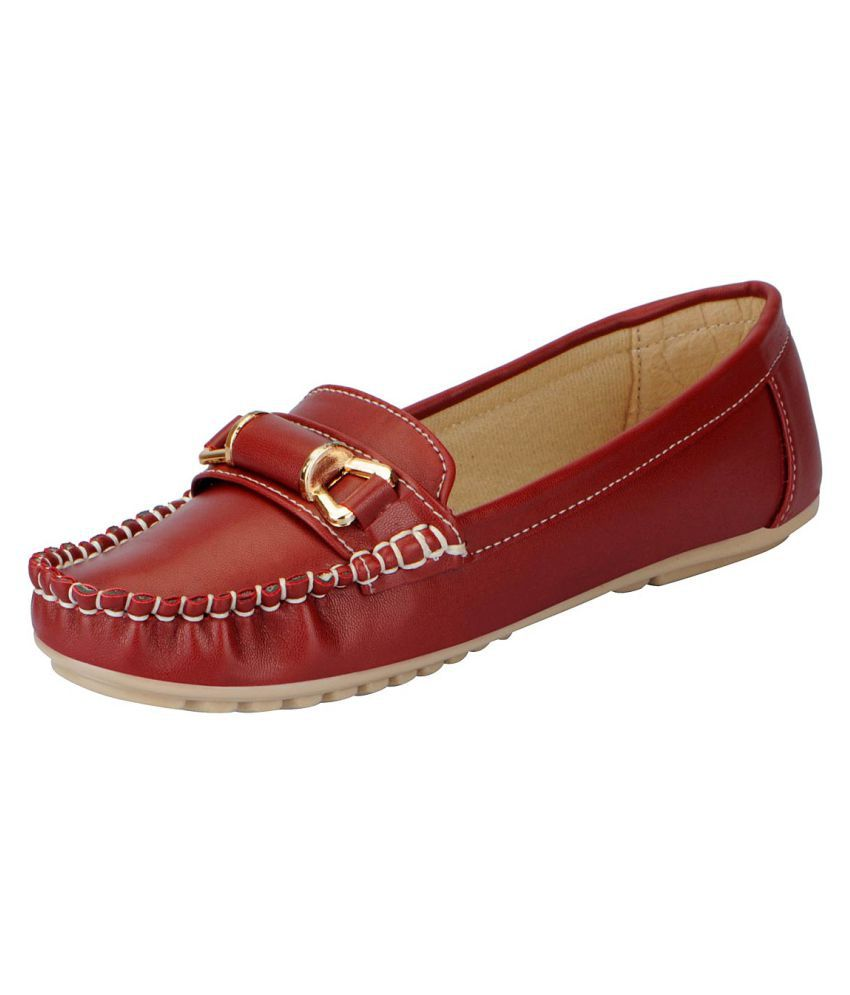 FAUSTO Maroon Casual Shoes