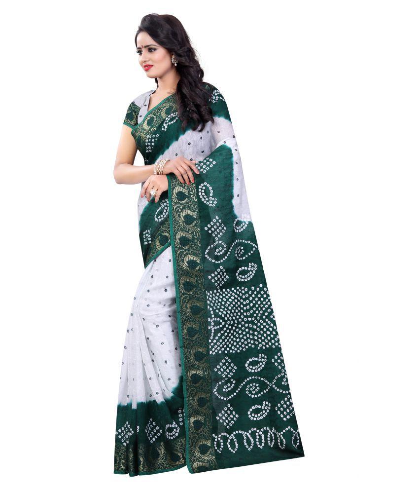 Indian Ethnic Multicoloured Cotton Silk Saree