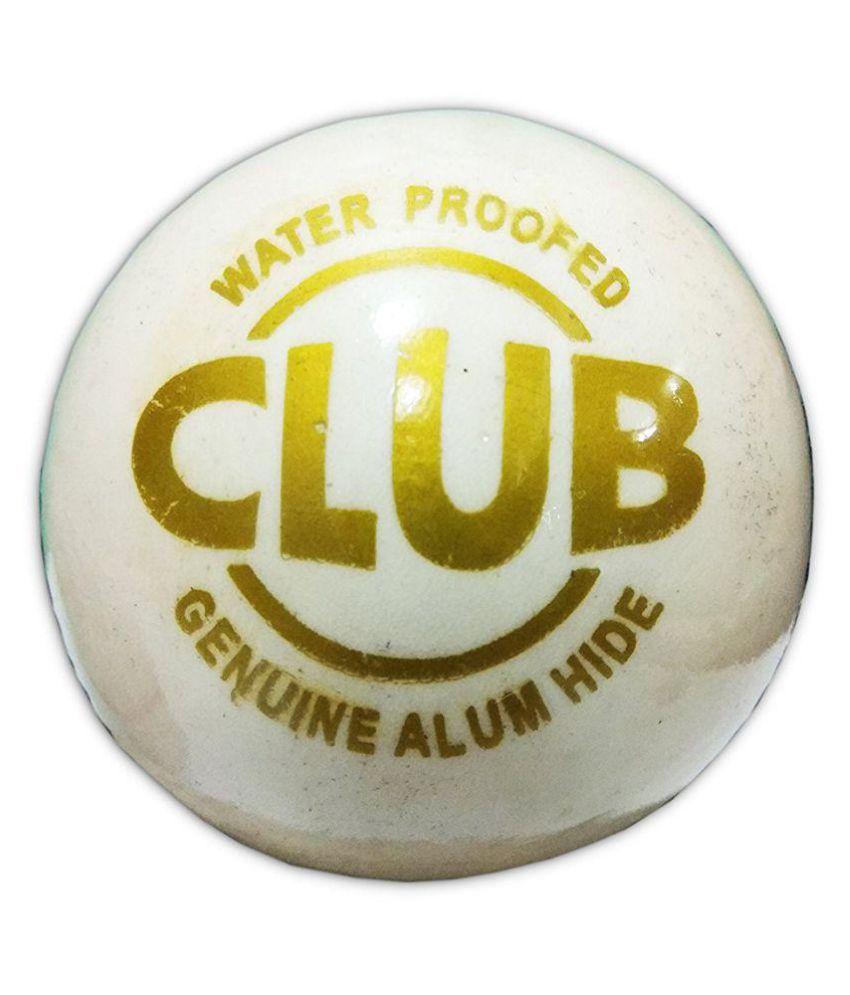Comex CLUB White Leather Cricket Ball