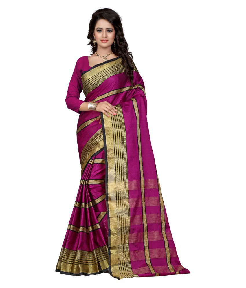 Fab Liza Pink Cotton Silk Saree