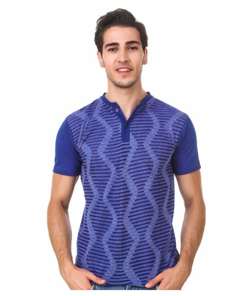 Sen Voler Blue Henley T-Shirt