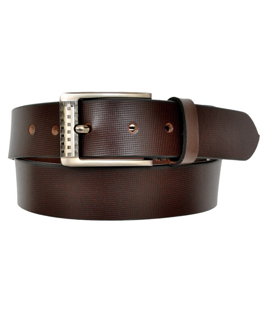 A S Leather Brown Leather Casual Belts