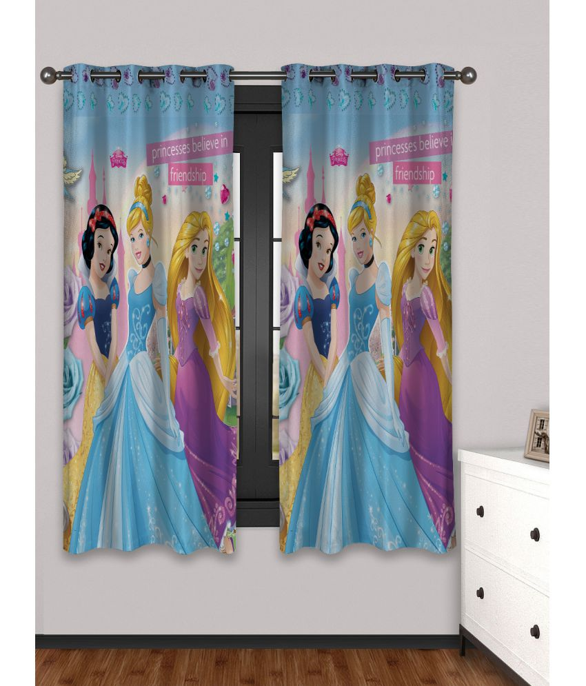 Disney Set of 2 Window Eyelet Curtains Printed Multi Color