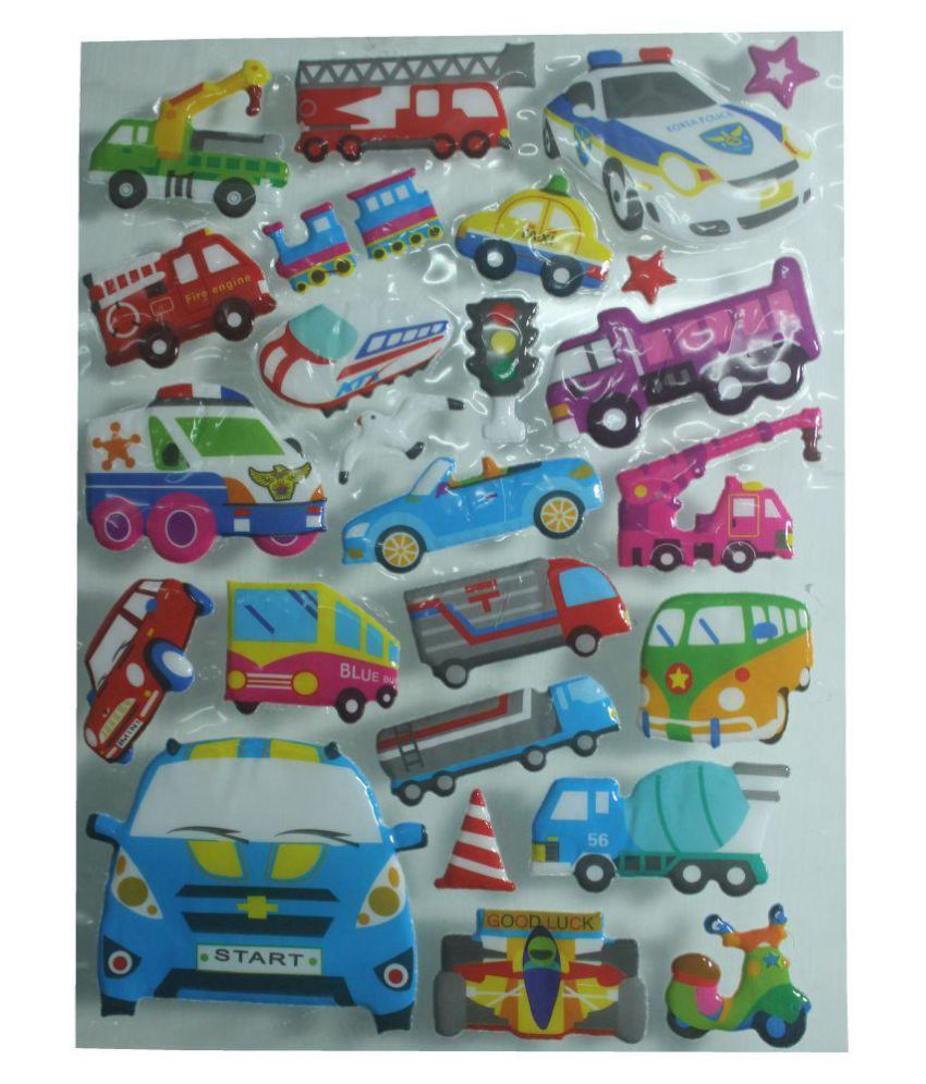 Beautifuly 3D Sticker in Transport shape For Art & Craft Accessories.A.P-104