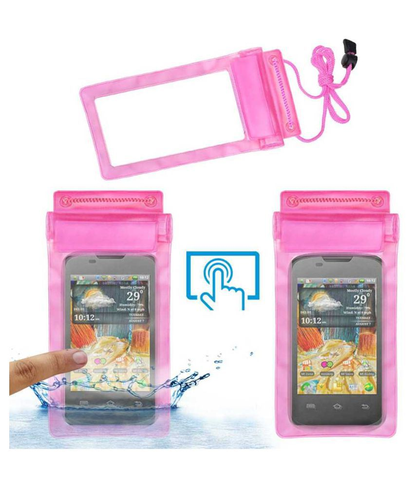 Micromax A57 Ninja Holster Cover by ACM - Pink