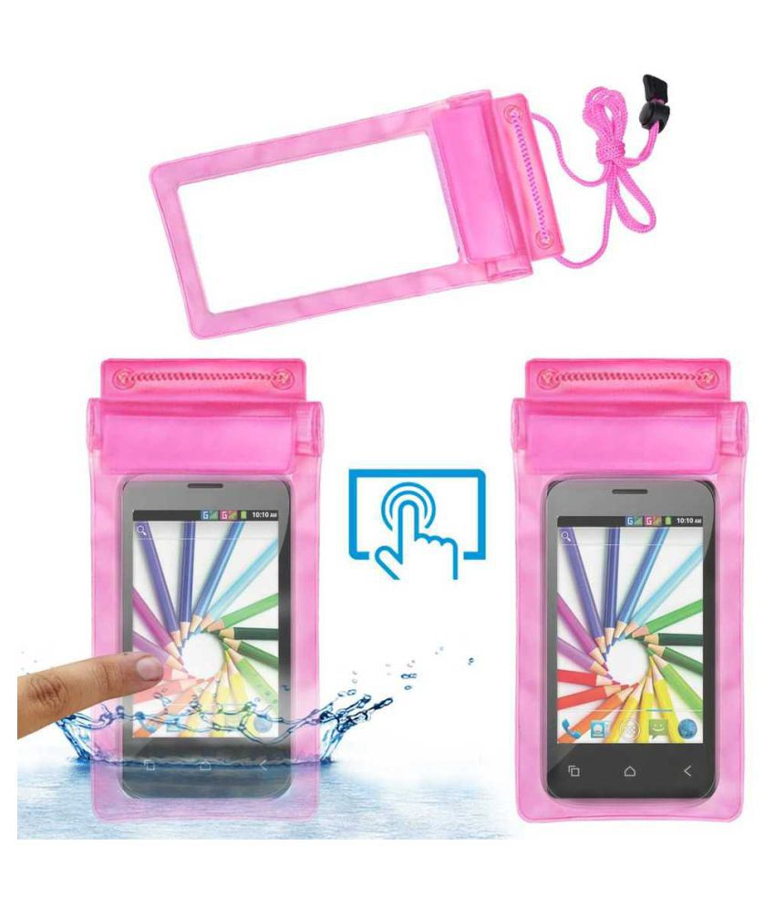 Videocon A16 Holster Cover by ACM - Pink