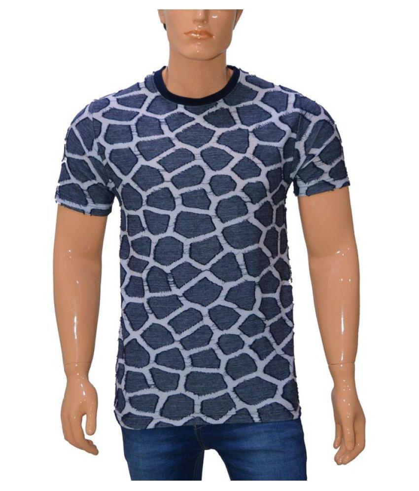 360 Degree Grey Round T-Shirt