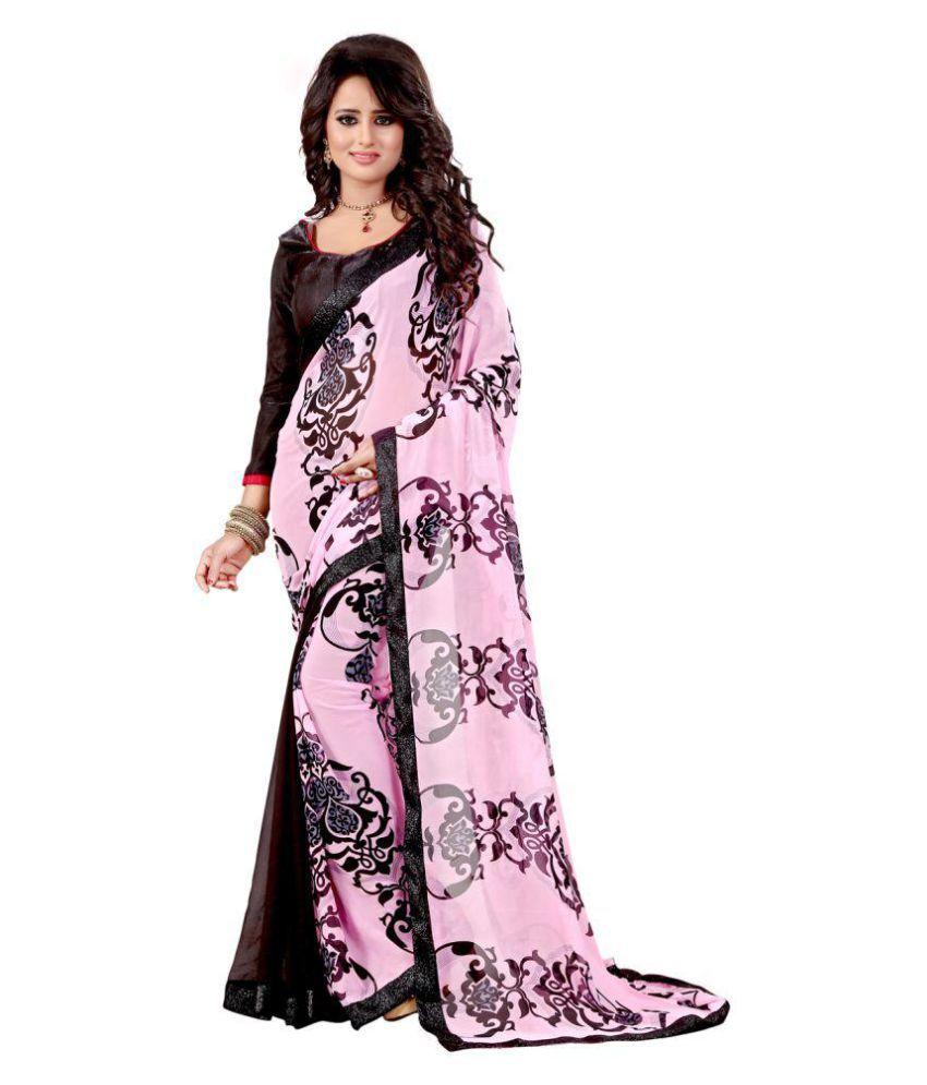 Harikrishna Enterprise Multicoloured Georgette Saree