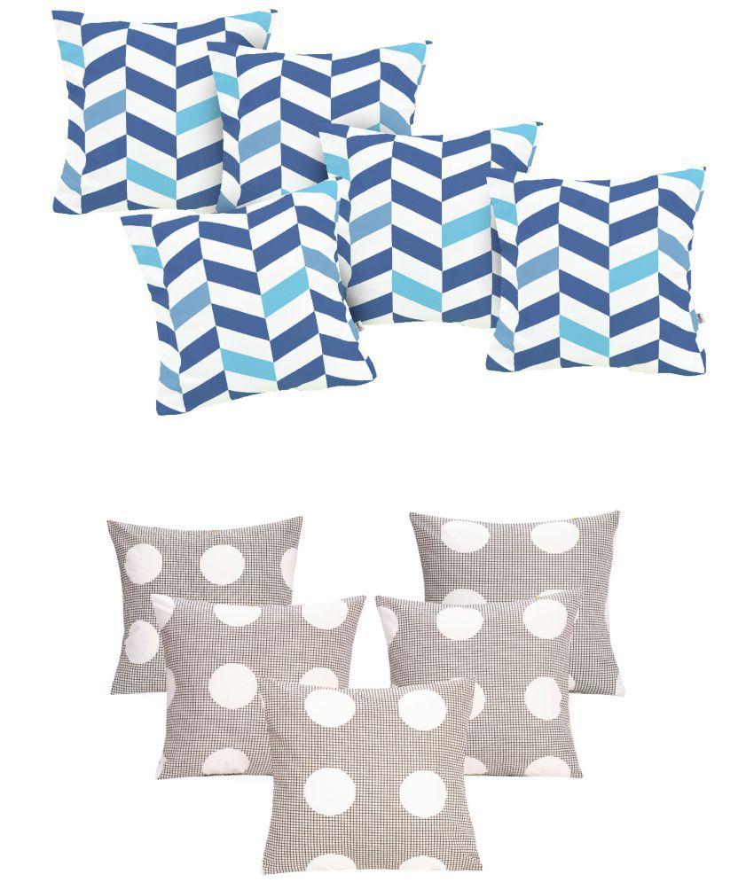 Divine Casa Buy 5 Get 5 Cotton Cushion Covers 40X40 cm (16X16)