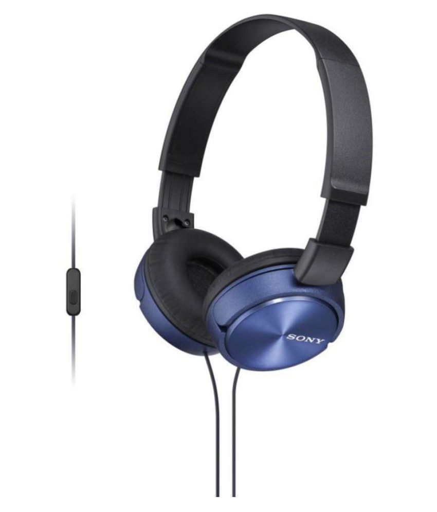 Sony MDR ZX310 Over Ear Headset with Mic Blue