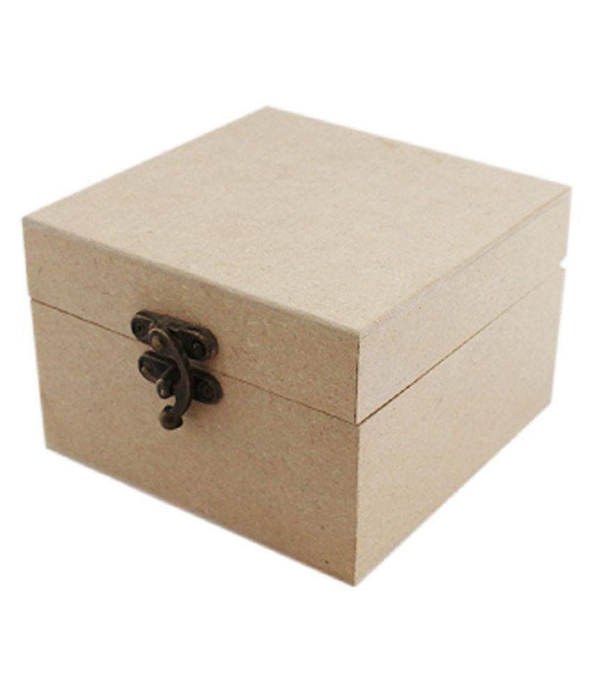 Multipurpose Box Unfinished Mdf Wood 11 5x11 5x7 5 Cm