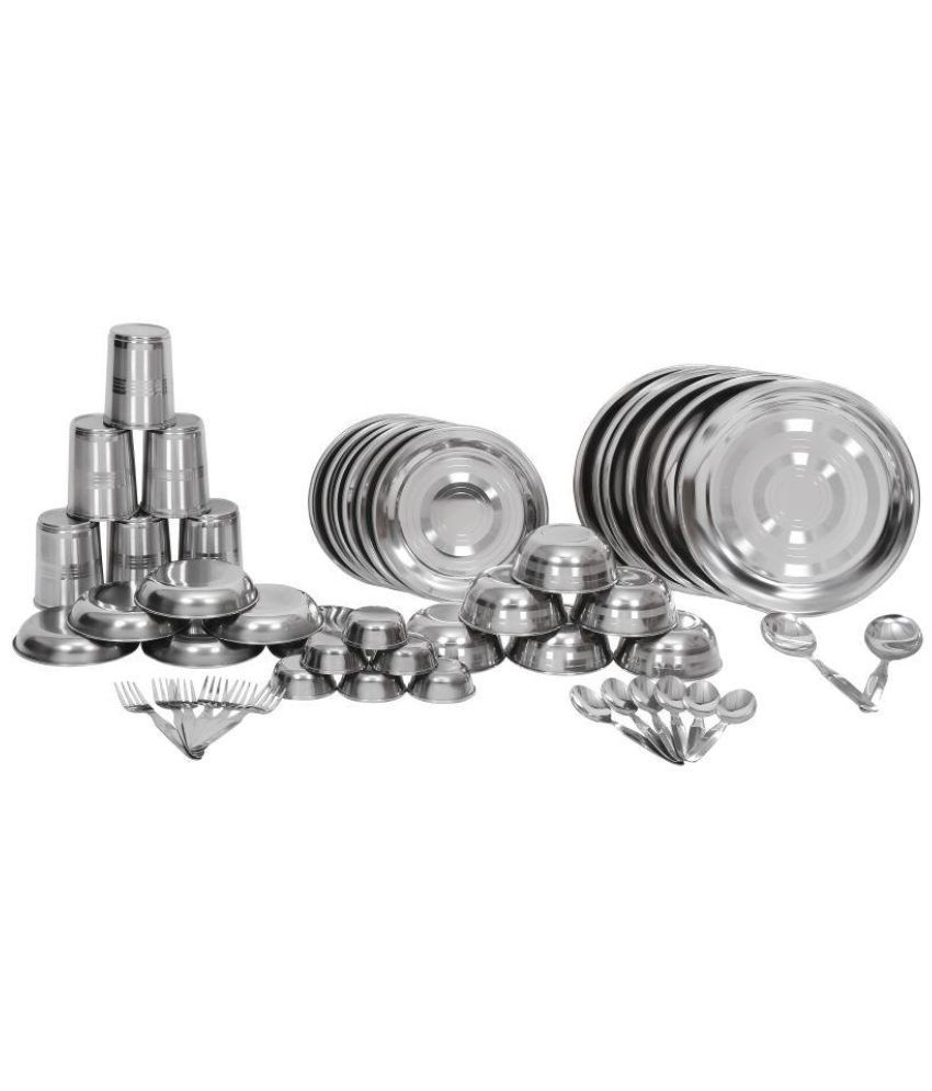Scitek 50Pcs Stainless Steel Dinner Set of 50 Pieces
