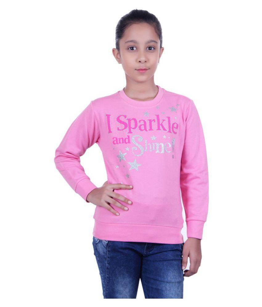 GOLFER KIDS GIRLS COTTON PRINTED pink SWEATSHIRTS