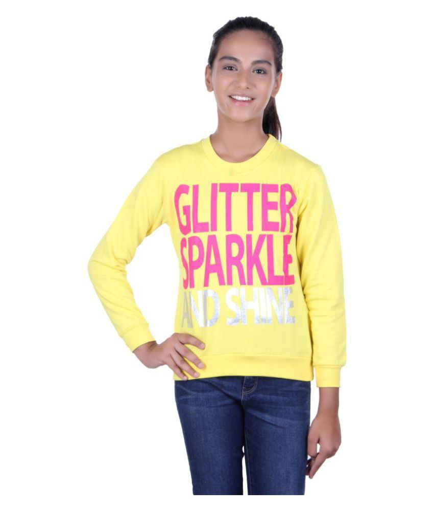 GOLFER KIDS GIRLS COTTON PRINTED yellow SWEATSHIRTS
