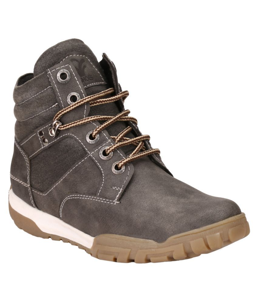I-Shoes Gray Casual Boot