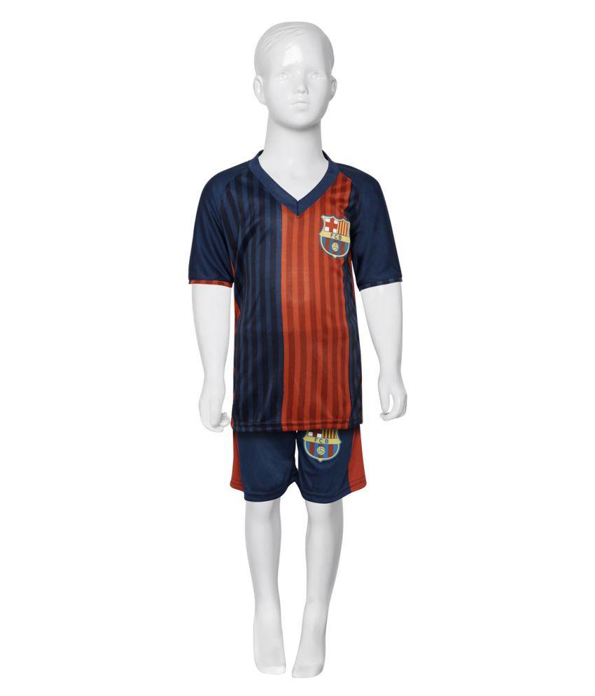 the best attitude 68b0f 5399a Sportigo Replica FC Barcelona KIDS Football Jersey-Red/Blue