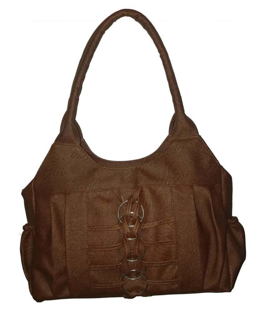sk noor enterprises Brown P.U. Shoulder Bag