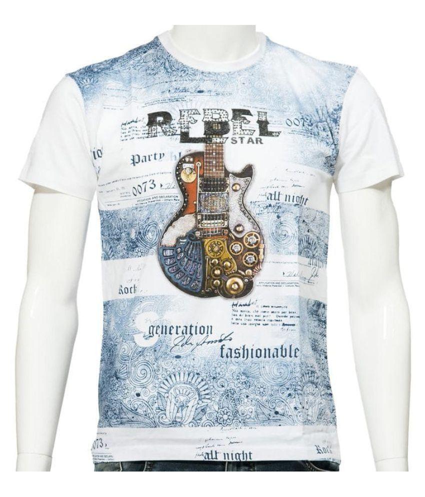 360 Degree White Round T-Shirt